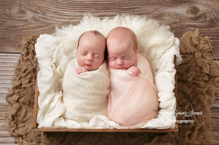 Annie Gower-Jones photography newborn twins baby studio photographer Manchester Altrincham Sale Hale